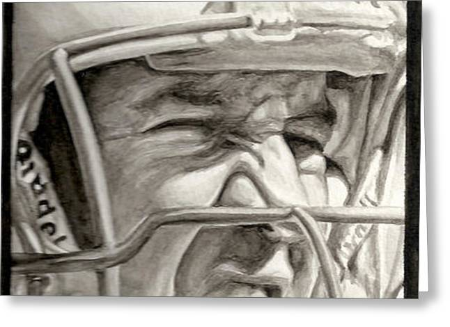 Intensity Peyton Manning Greeting Card by Tamir Barkan
