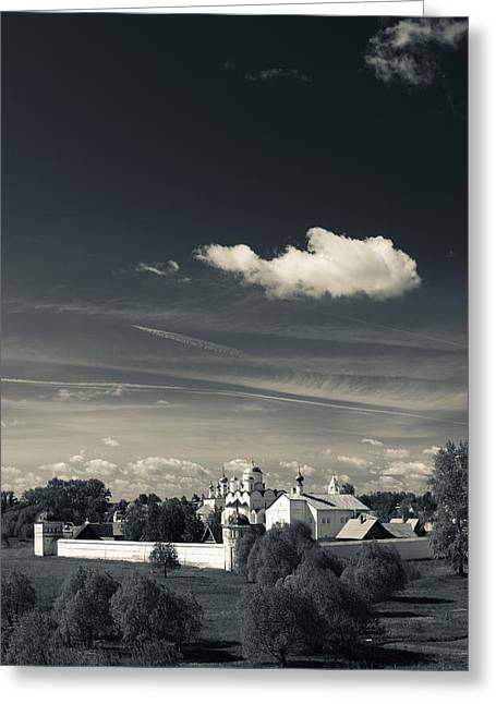 Russian Orthodox Greeting Cards - Intercession Convent In Suzdal Greeting Card by Panoramic Images
