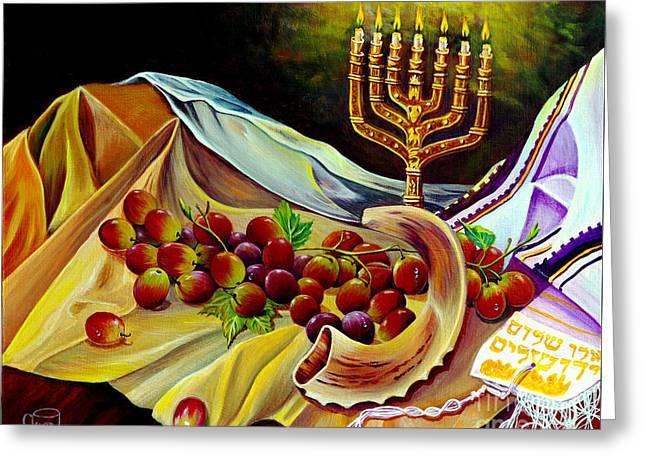 Prayer Shawl Greeting Cards - Intercession Greeting Card by Nancy Cupp