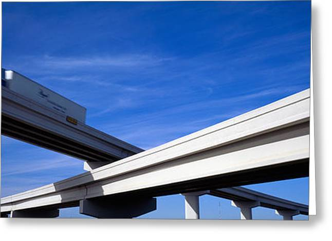 Roadway Photographs Greeting Cards - Interchange, Texas, Usa Greeting Card by Panoramic Images