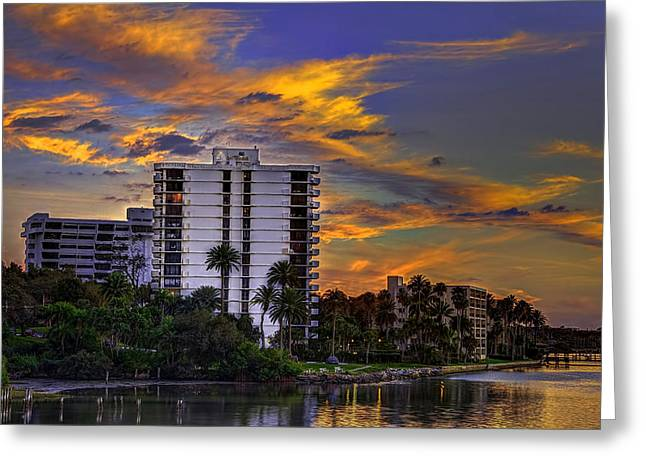 Intercoastal Sky Greeting Card by Marvin Spates