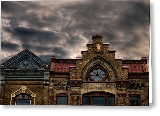 College Avenue Greeting Cards - Interesting Architecture  Greeting Card by Thomas Young
