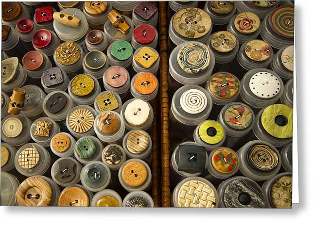 Apparel Greeting Cards - Interesting Buttons Greeting Card by Jean Noren