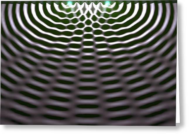 Amplitude Greeting Cards - Interference Patterns, Artwork Greeting Card by Russell Kightley