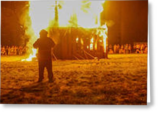 Brandon Smith Greeting Cards - Interfuse burn 2012 Greeting Card by Brandon Smith
