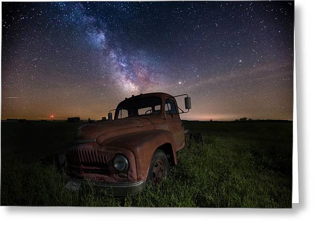 Light Pollution Greeting Cards - Intergalactic International Greeting Card by Aaron J Groen
