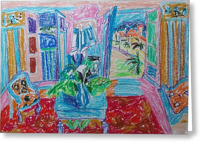 Interior a la Nice Greeting Card by Esther Newman-Cohen