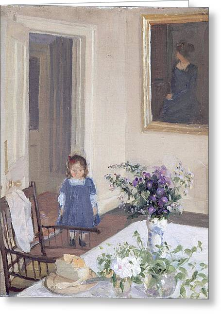 Camden Town Group Greeting Cards - Interior, C.1907 Greeting Card by Harold Gilman