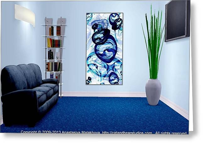 Office Space Digital Art Greeting Cards - Interior Design Idea - Immiscible Greeting Card by Anastasiya Malakhova