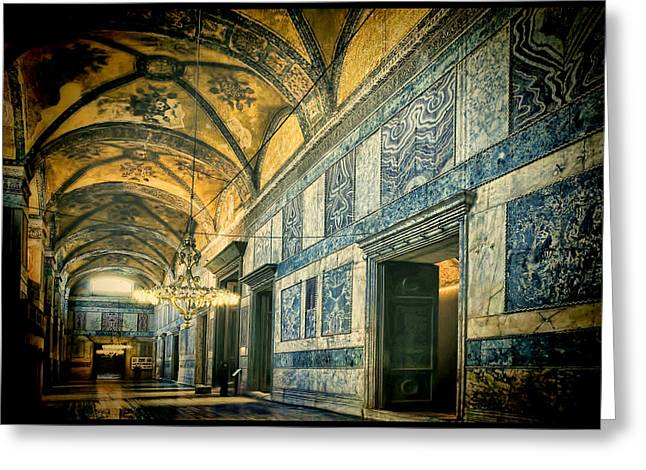 Hagia Sophia Greeting Cards - Interior Narthex Greeting Card by Joan Carroll
