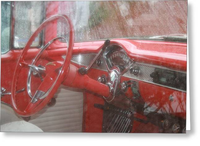 Kpl Greeting Cards - Interior of a 1955 Masterpiece Greeting Card by Kathy Peltomaa Lewis