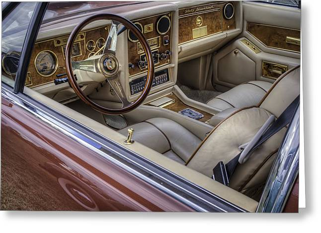 Hand Built Greeting Cards - Interior Of A Stutz Blackhawk Greeting Card by Thomas Young