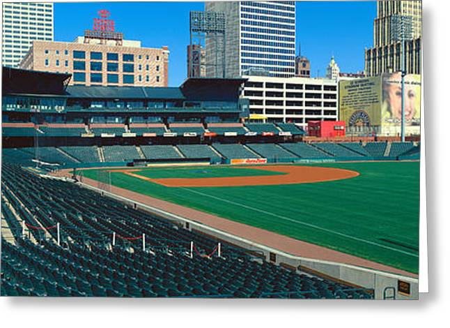 Interior Of Autozone Baseball Park Greeting Card by Panoramic Images