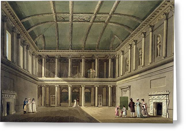 Interior Of Concert Room, From Bath Greeting Card by John Claude Nattes