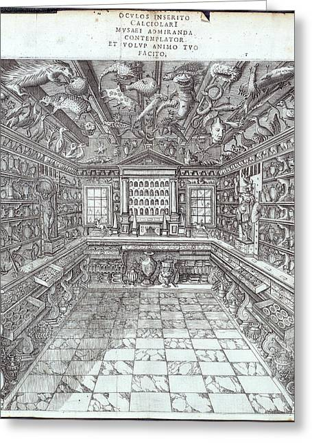 Interior Of Museum Greeting Card by British Library