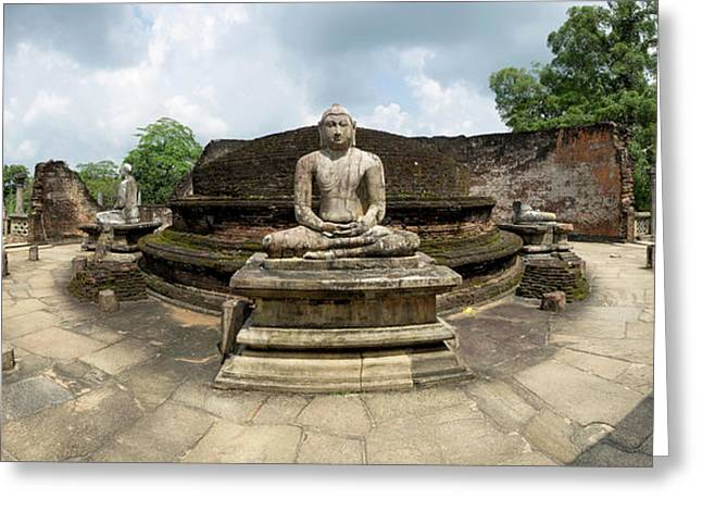 Interior Of Polonnaruwa Vatadage Greeting Card by Panoramic Images