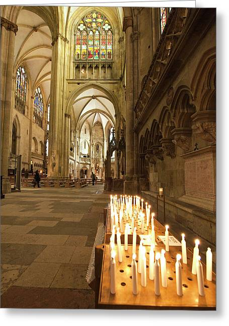 Interior Of St Peter's Cathedral Greeting Card by Michael Defreitas