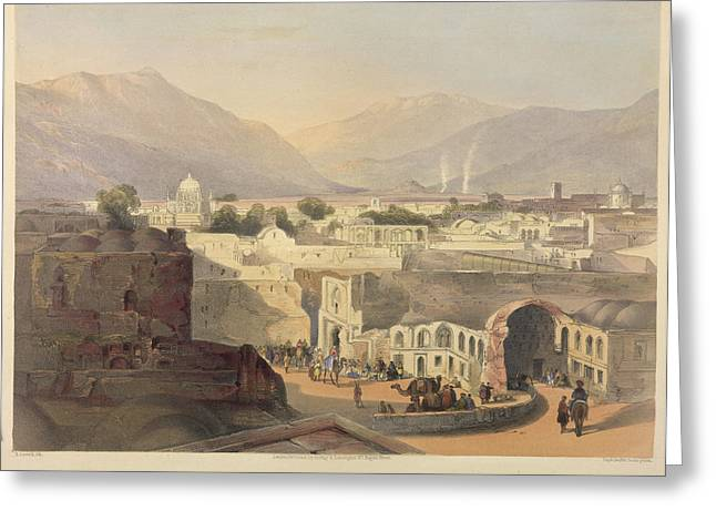 Interior Of The City Of Kandahar Greeting Card by British Library