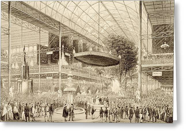 Interior Of The Great Exhibition, Grand Greeting Card by English School