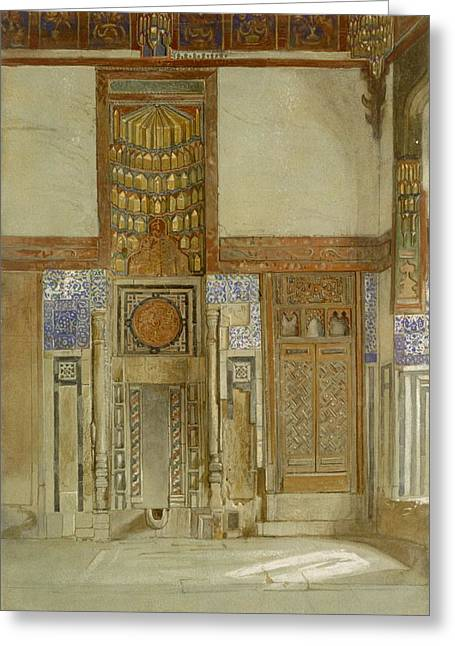 Interior Decorating Drawings Greeting Cards - Interior Of The House Of The Mufti Greeting Card by Frank Dillon