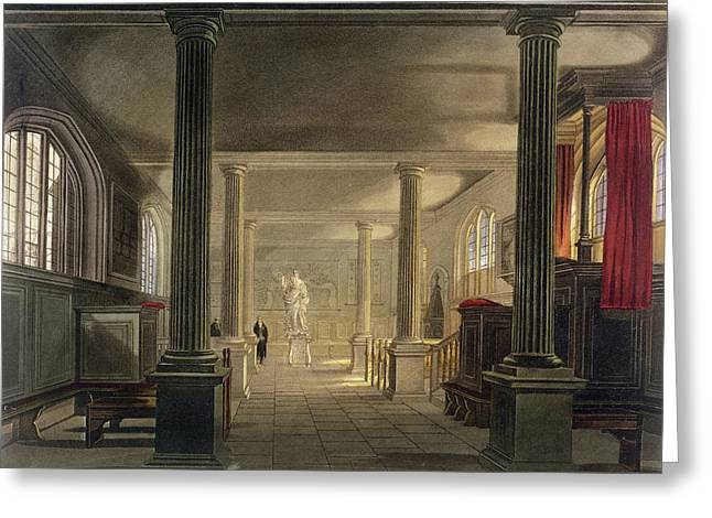 Florida State Drawings Greeting Cards - Interior Of The Law School, Cambridge Greeting Card by Frederick Mackenzie