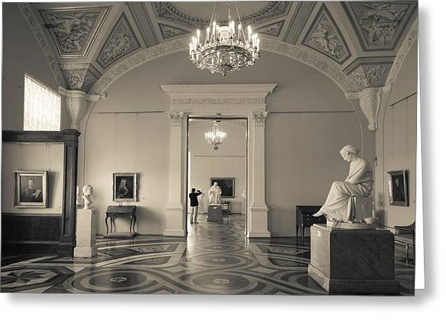 Sculpture Gallery Greeting Cards - Interior Of The State Hermitage Museum Greeting Card by Panoramic Images