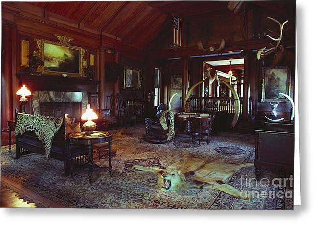 Historic Site Greeting Cards - Interior Of Theordore Roosevelts Home Greeting Card by Farrell Grehan