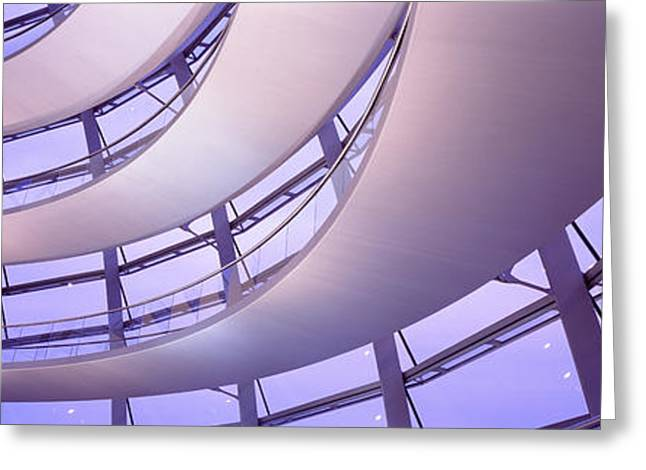 20th Greeting Cards - Interior Reichstag Berlin Germany Greeting Card by Panoramic Images