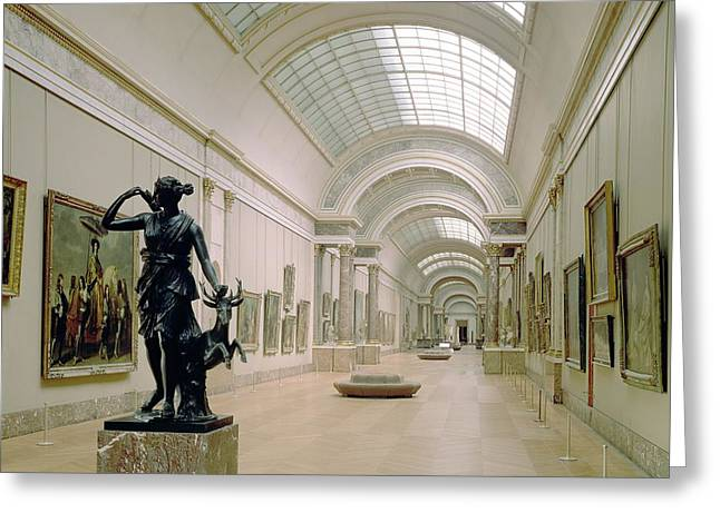 Artemis Greeting Cards - Interior View Of The Grande Galerie, 16th-19th Century Photo Greeting Card by French School