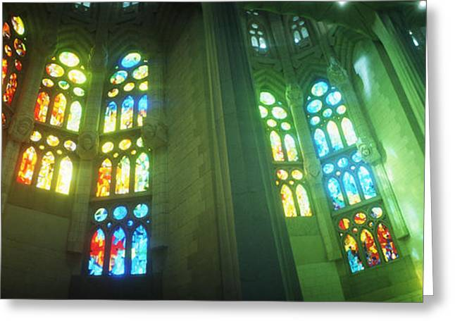 Interiors Of A Church Designed Greeting Card by Panoramic Images