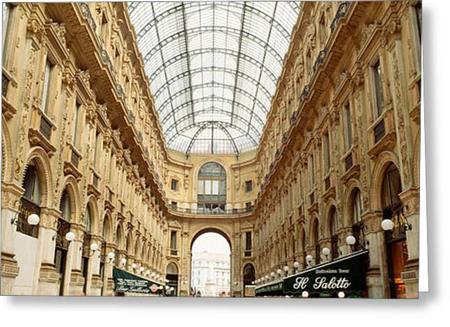 Inside Of Greeting Cards - Interiors Of A Hotel, Galleria Vittorio Greeting Card by Panoramic Images