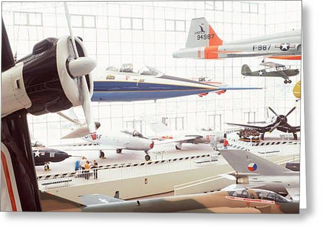 Aerospace Industry Greeting Cards - Interiors Of A Museum, Museum Greeting Card by Panoramic Images