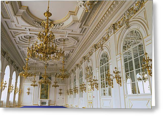 Royal Palace Greeting Cards - Interiors Of A Palace, Old Royal Greeting Card by Panoramic Images