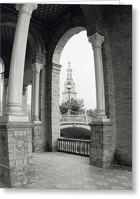 Royalty Greeting Cards - Interiors Of A Plaza, Plaza De Espana Greeting Card by Panoramic Images