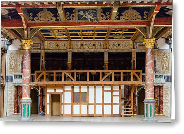 Arts Culture And Entertainment Greeting Cards - Interiors Of A Stage Theater, Globe Greeting Card by Panoramic Images