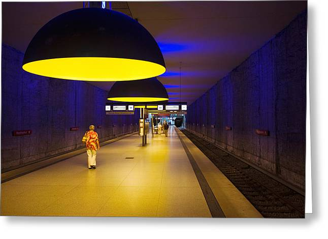 U-bahn Photographs Greeting Cards - Interiors Of An Underground Station Greeting Card by Panoramic Images