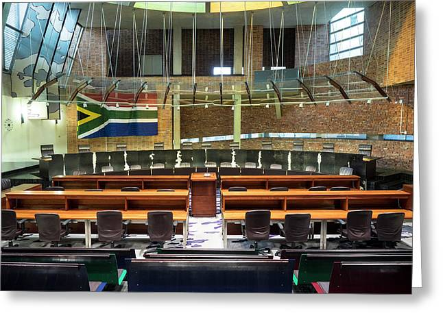 Interiors Of Constitutional Court Greeting Card by Panoramic Images