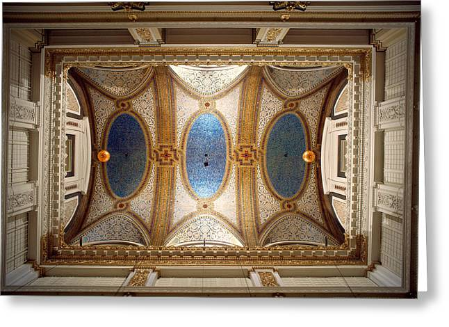 Art Glass Mosaic Greeting Cards - Interiors Of The Marshall Field And Greeting Card by Panoramic Images