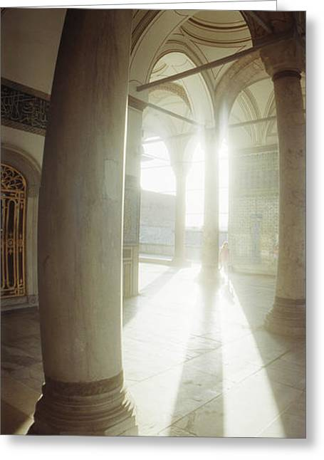 Marmara Greeting Cards - Interiors Of Topkapi Palace Greeting Card by Panoramic Images