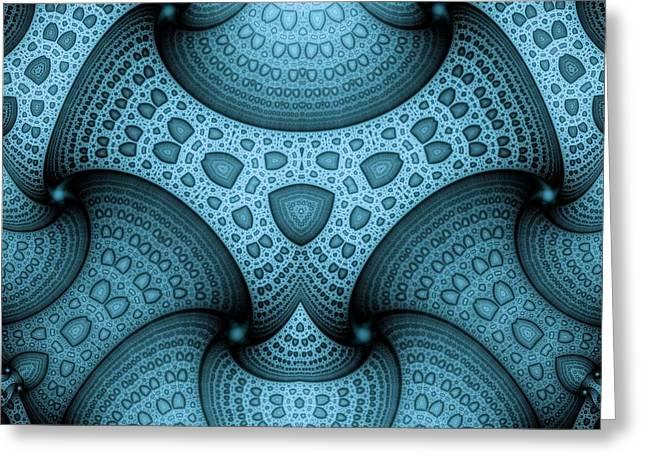 Interlocking Patterns Greeting Card by Mark Eggleston