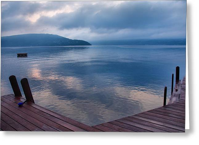 Keuka Greeting Cards - Interlude Greeting Card by Steven Ainsworth