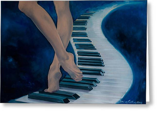 Emotion Art Greeting Cards - Intermezzo Greeting Card by Dorina  Costras