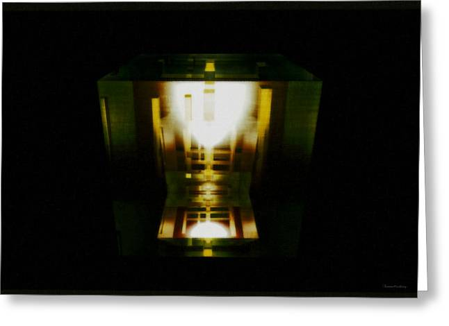 Modernism Greeting Cards - Internal reflections Greeting Card by Ramon Martinez