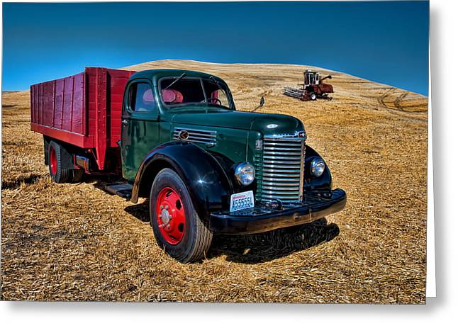 Roling Greeting Cards - International Farm Truck Greeting Card by Paul DeRocker