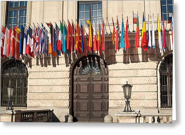 Cooperation Greeting Cards - International flags Greeting Card by Frank Gaertner