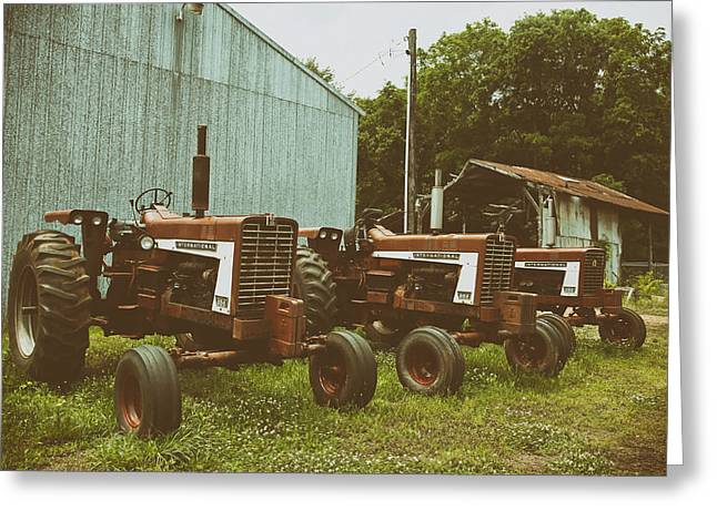 International Tractor Greeting Cards - International Lineup Greeting Card by Mountain Dreams