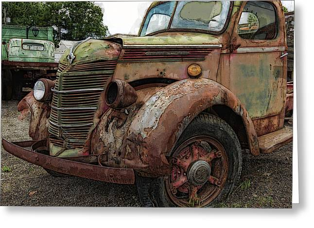 Truck Digital Greeting Cards - International Rust Greeting Card by Daniel Hagerman