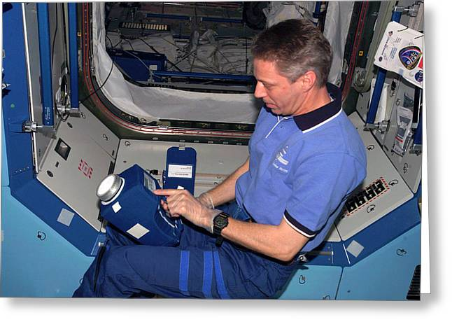 International Space Station Air Sampling Greeting Card by Nasa