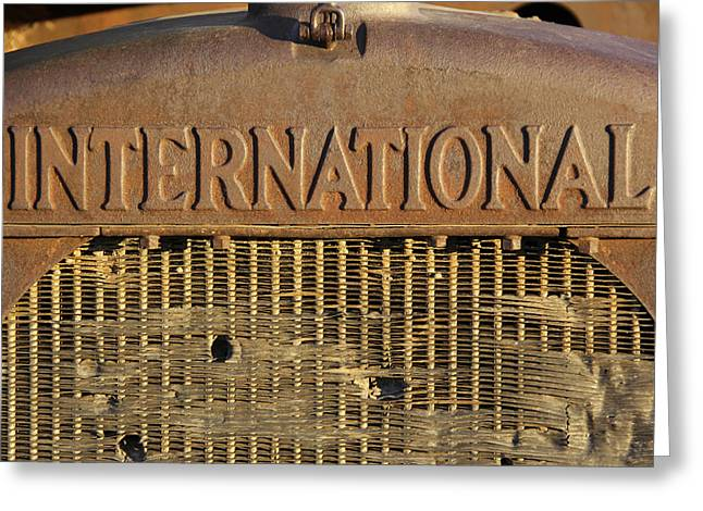 International Truck Emblem Greeting Card by Mike McGlothlen
