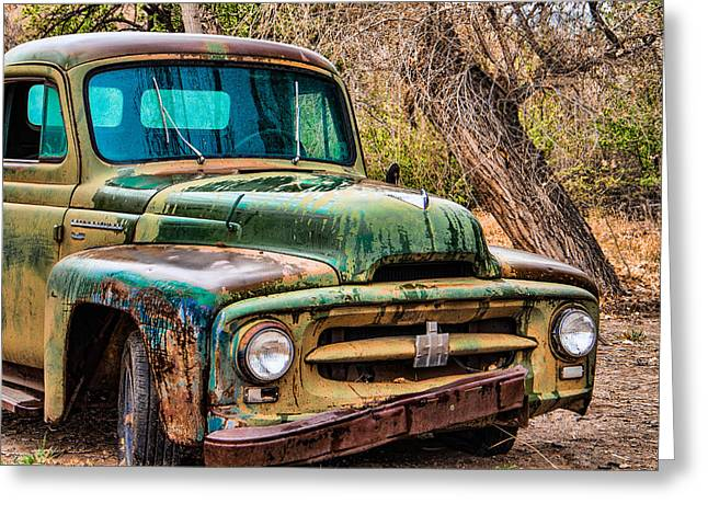 Pickup Greeting Cards - International Truck Yard Art Greeting Card by Steven Bateson